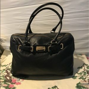 Michael KORS large leather  carry on bag/weekender